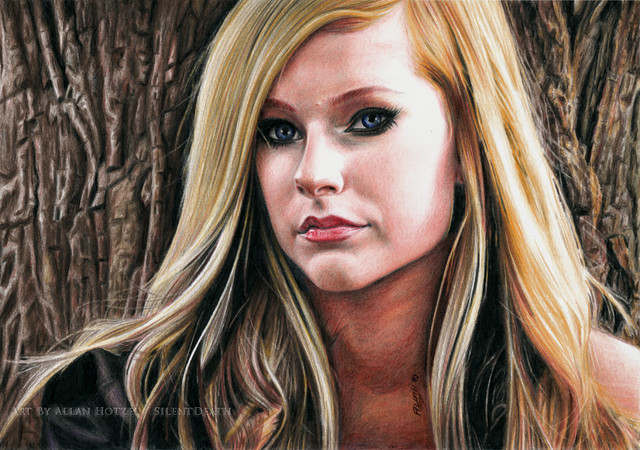 10 girl color pencil drawing