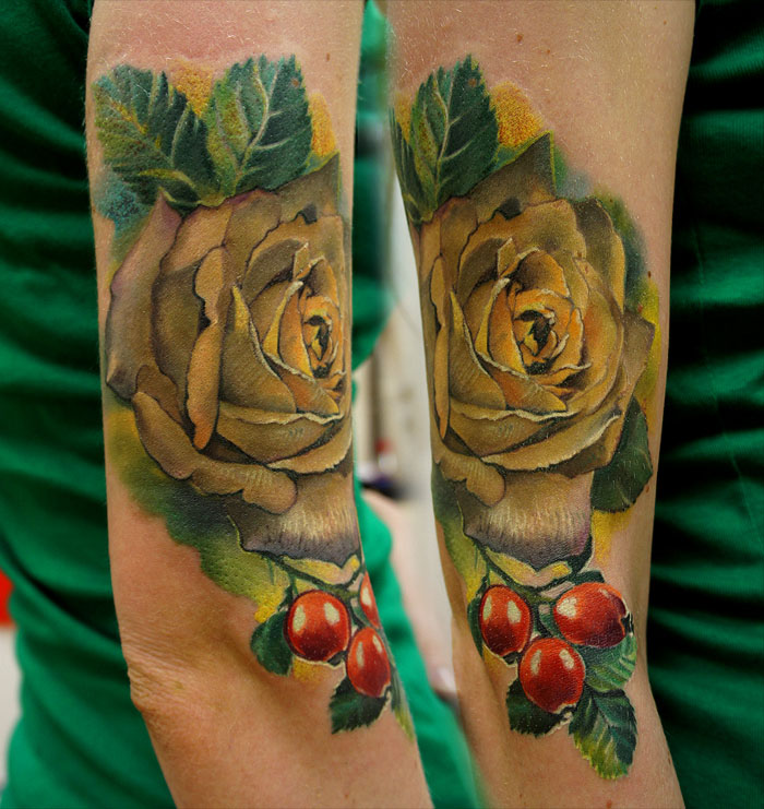 fruit tattoos women grimmy -  11