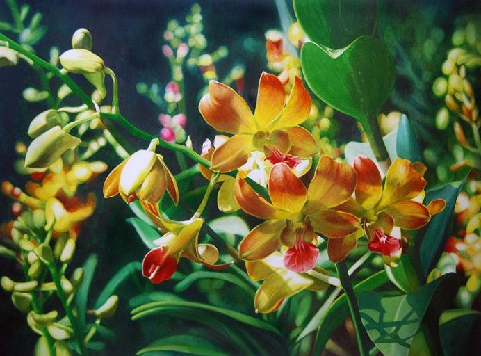 12 flower painitng