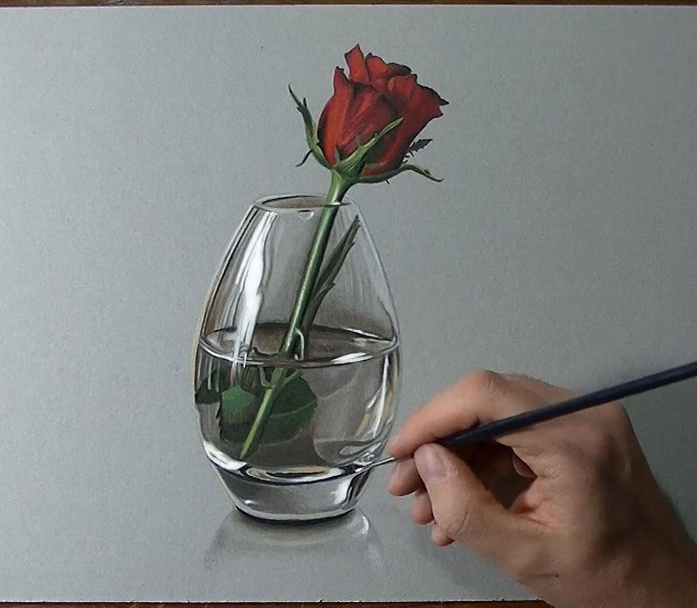 rose flower drawings -  12
