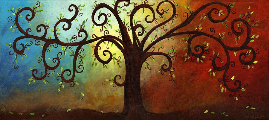 12 tree painting