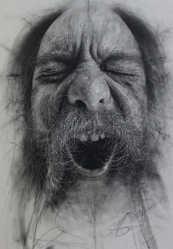 13 charcoal drawings