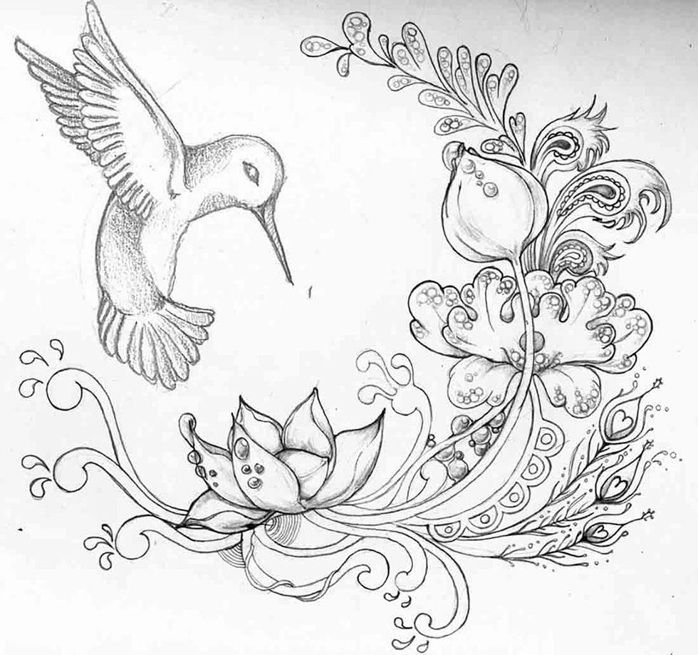 flower drawings -  13
