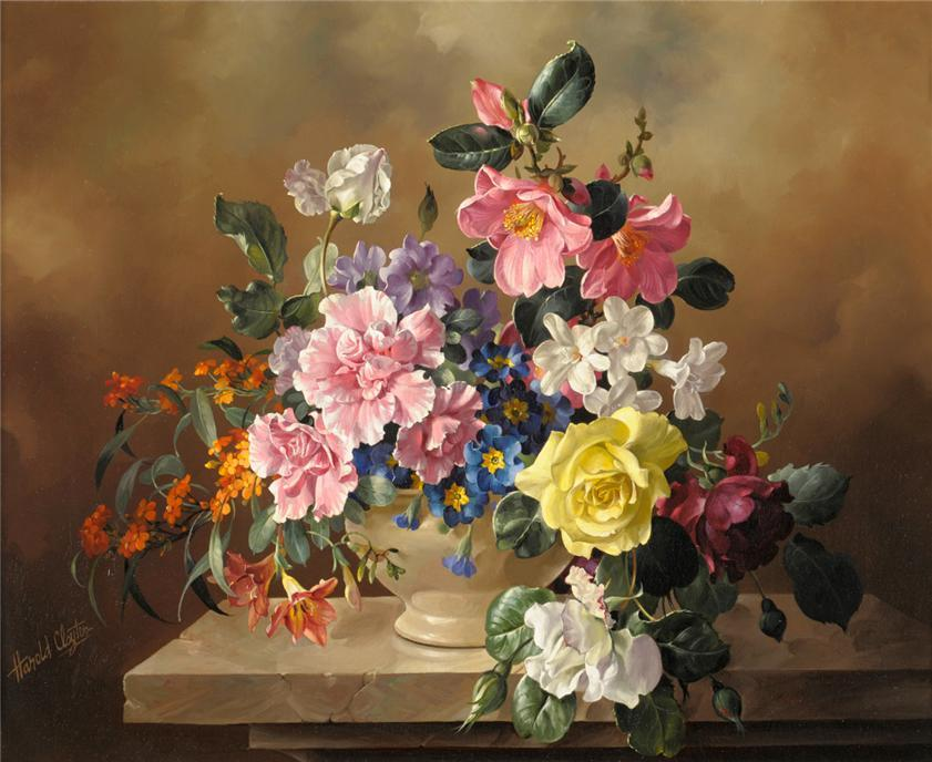 13 flower painting by harold