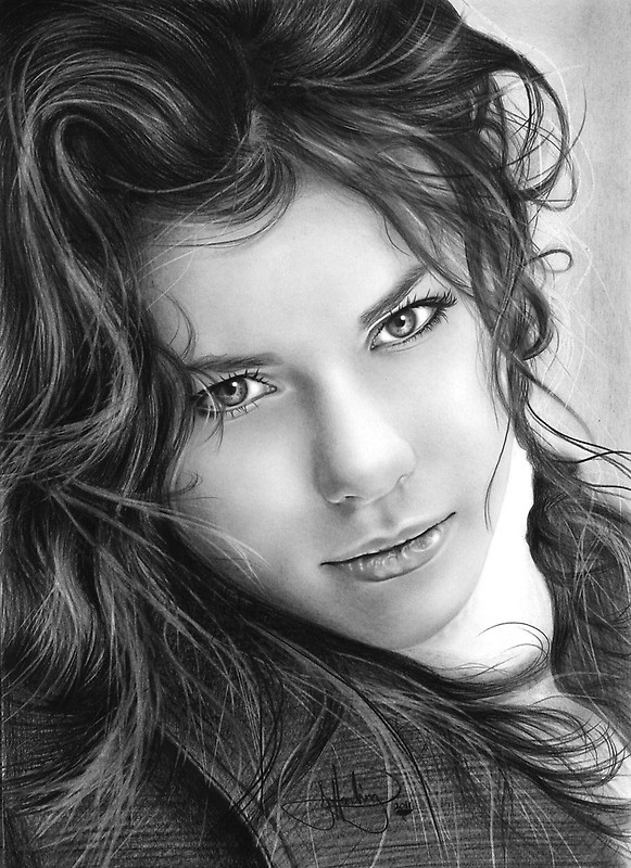 13 potrait drawings