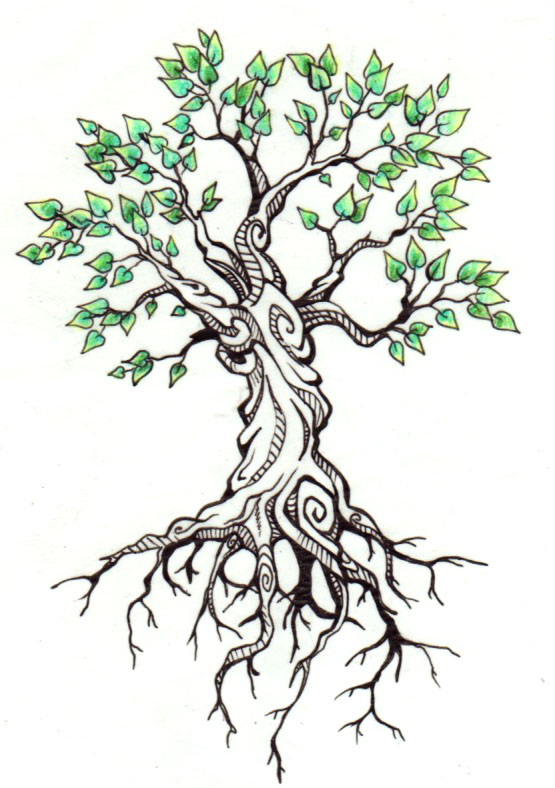 13 tree drawing tattoo