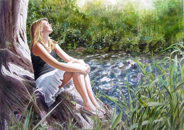 girl water colour paintings -  14