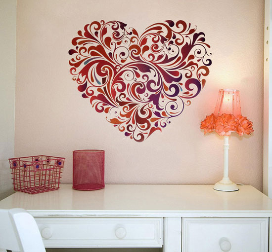 14 heart wall art