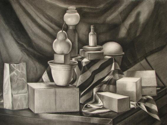 still life drawings by maia oprea -  14