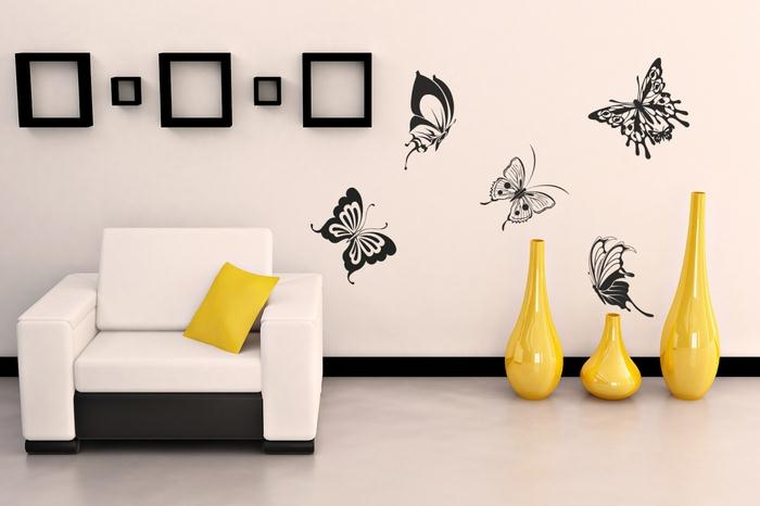 16 butterfly wall art