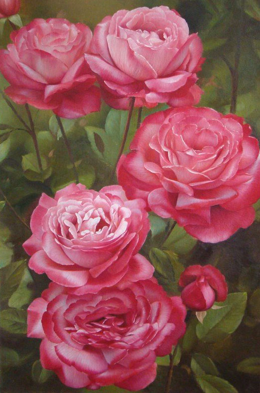 16 flower painting roses