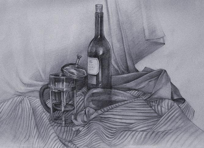 16 still life drawings