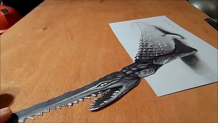 17 crocadile 3d drawings