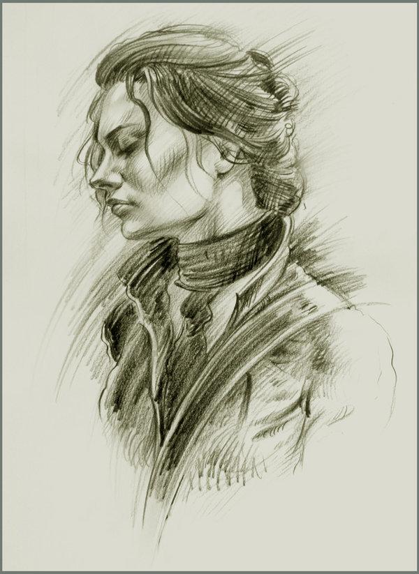 17 portrait scribbles
