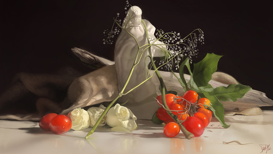 17 still life painting by damie