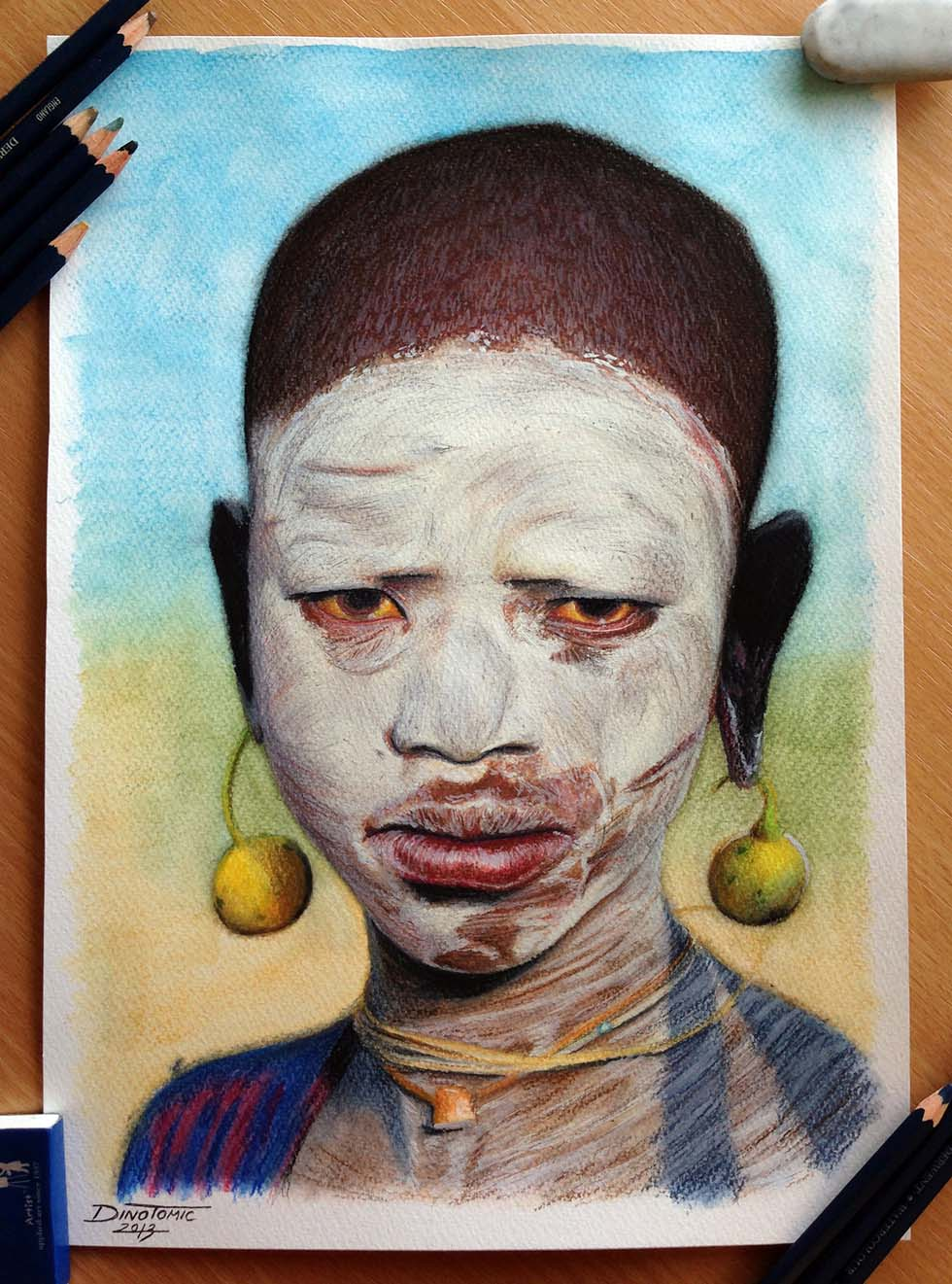 18 color pencil drawing by atomiccircus