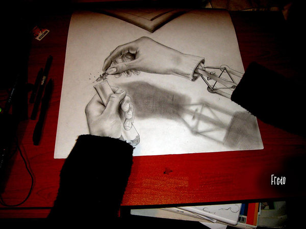 18 hand 3d drawings