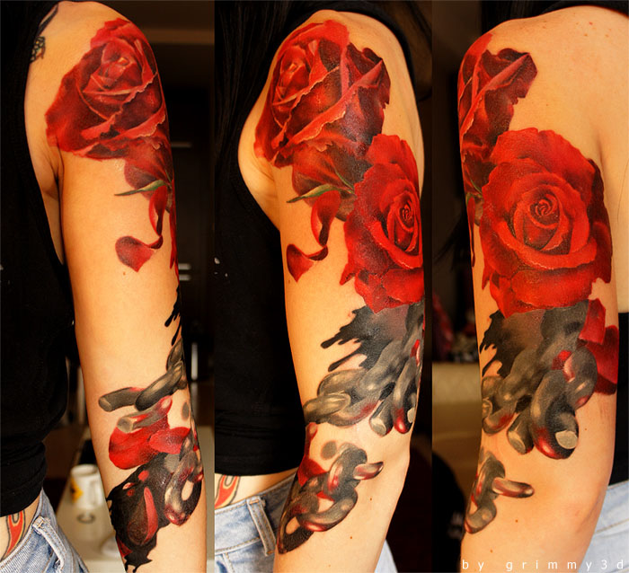 18 roses tattoos women grimmy