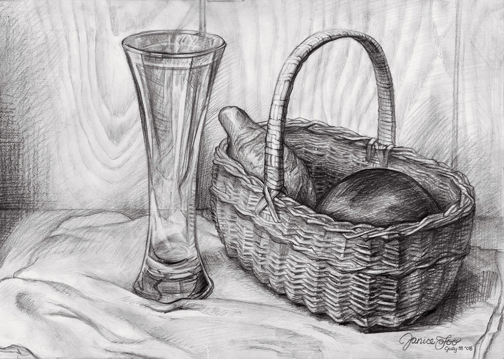 19 still life drawings