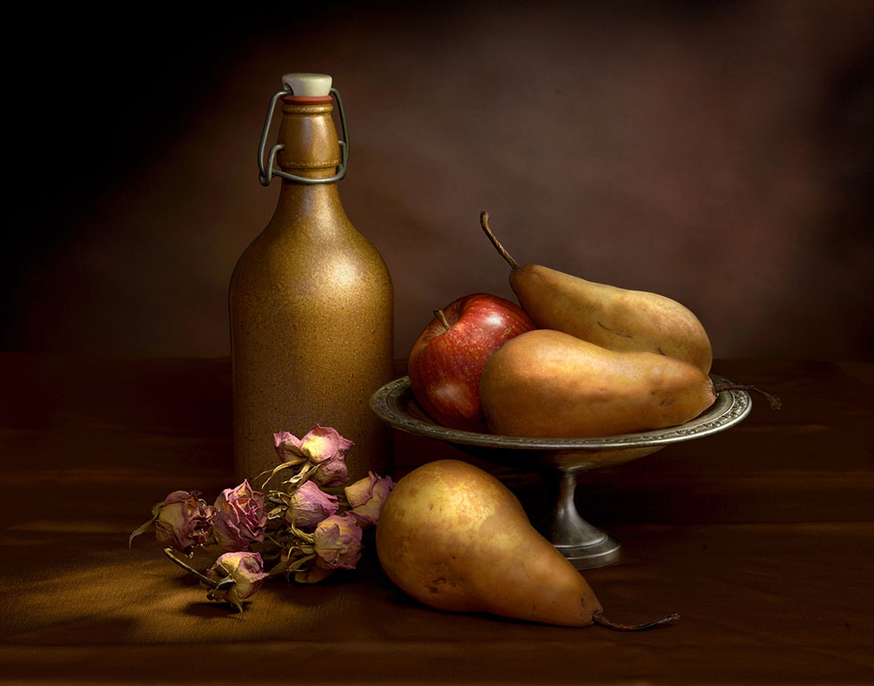 apple still life paintings by harold ross -  2