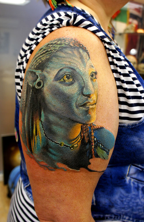 avatar tattoos women grimmy -  2