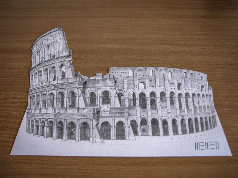 20 colosseo 3d drawing