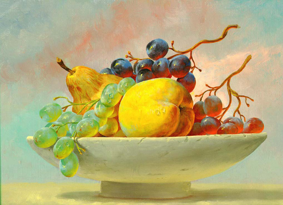 20 fruits pastel painting