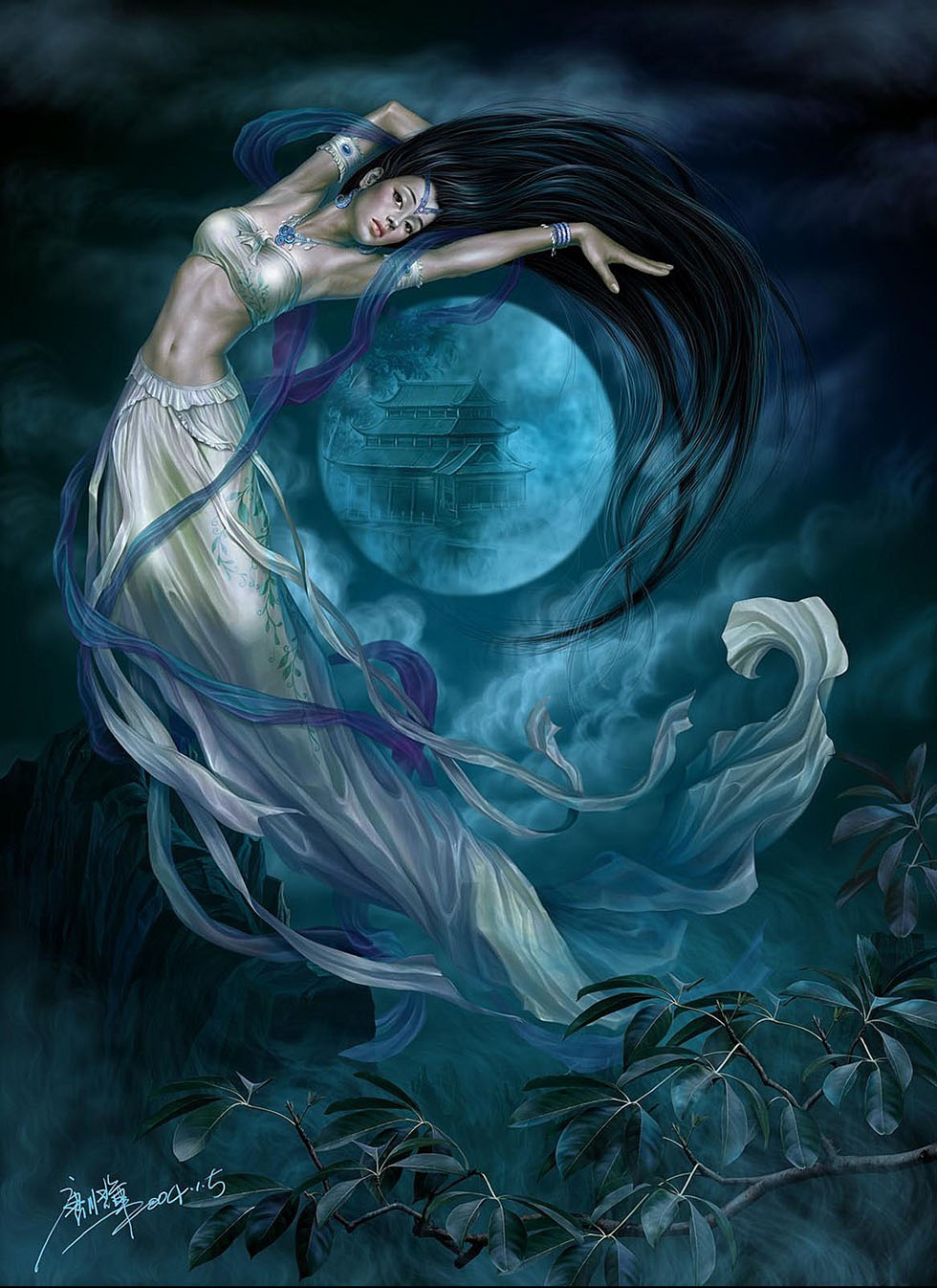 20 moon girl fantasy art