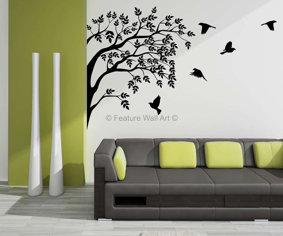 21 birds wall art