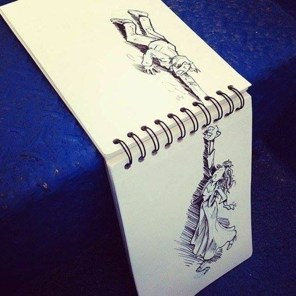 notepad funny drawings -  21