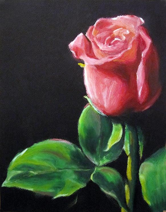 21 rose pastel painting