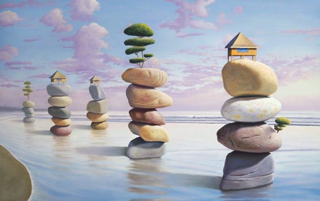 surreal painting by paul david -  21