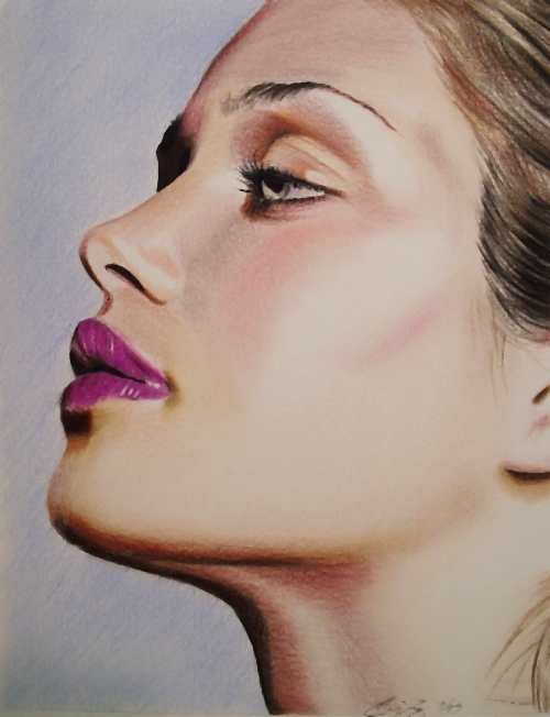 22 beauty color pencil drawings