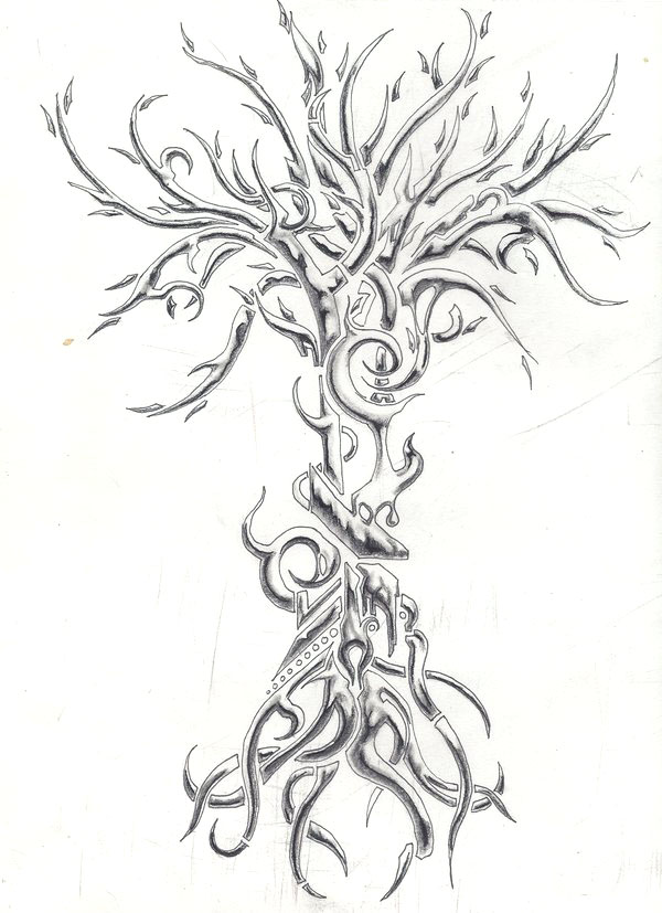 tree drawing tattoo -  22