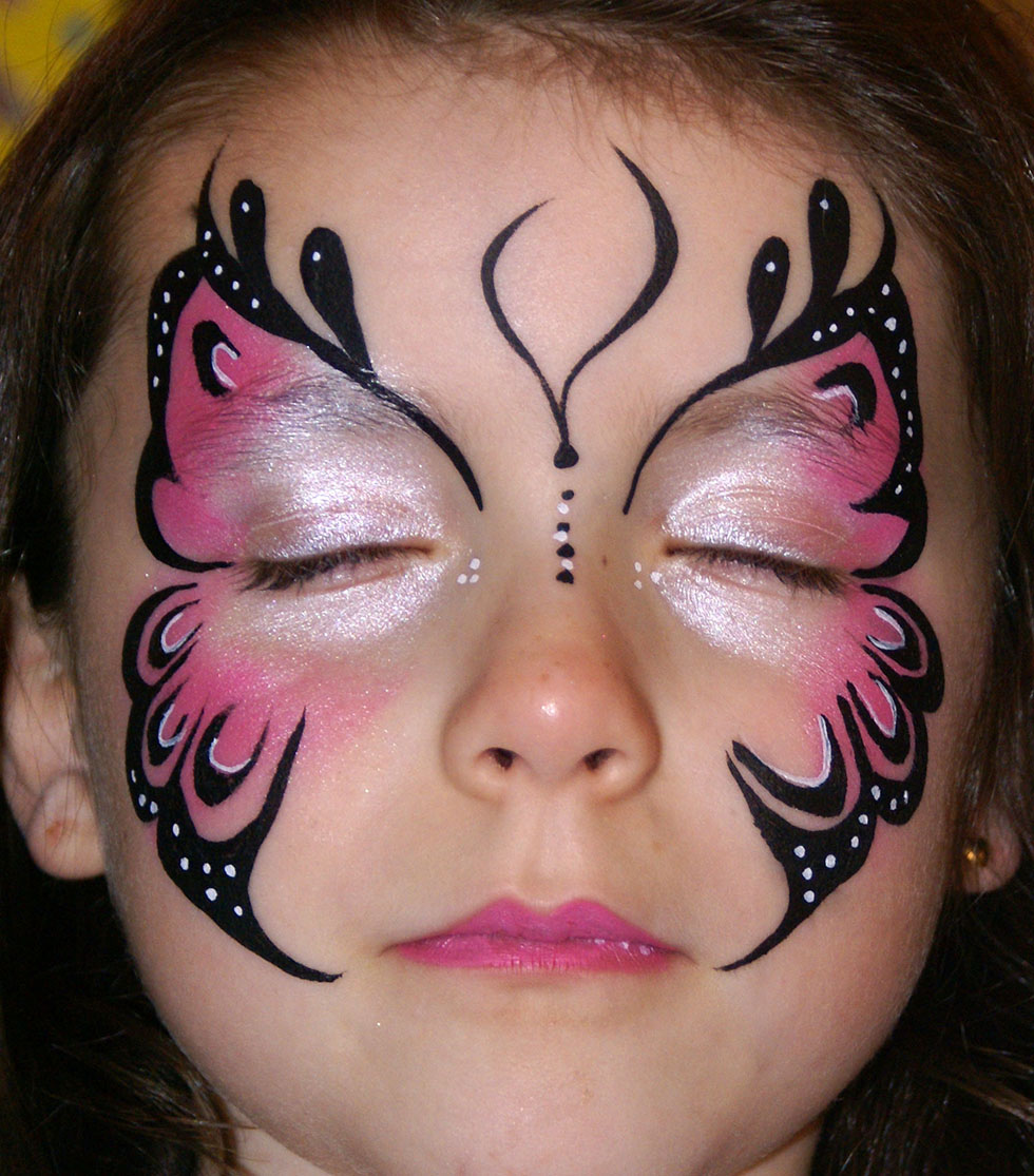23 butterfly face paintings