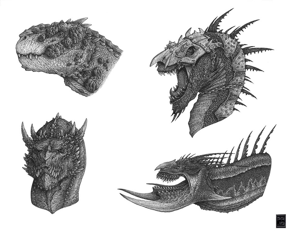 dragon drawings by deepcore1 -  23
