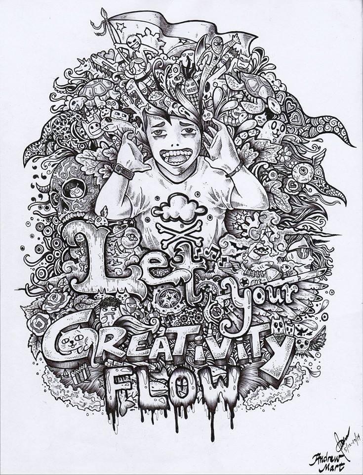 23 gravitity doodle art