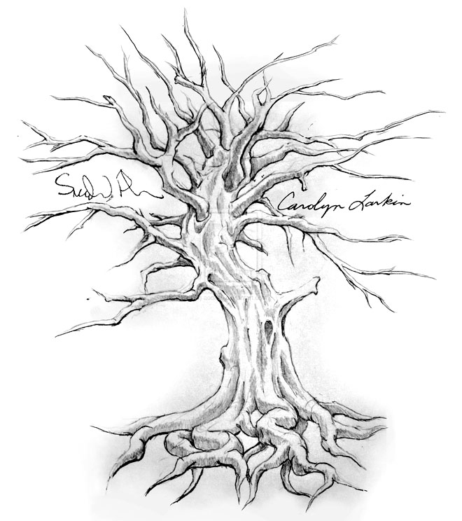 23 tree drawing tattoo