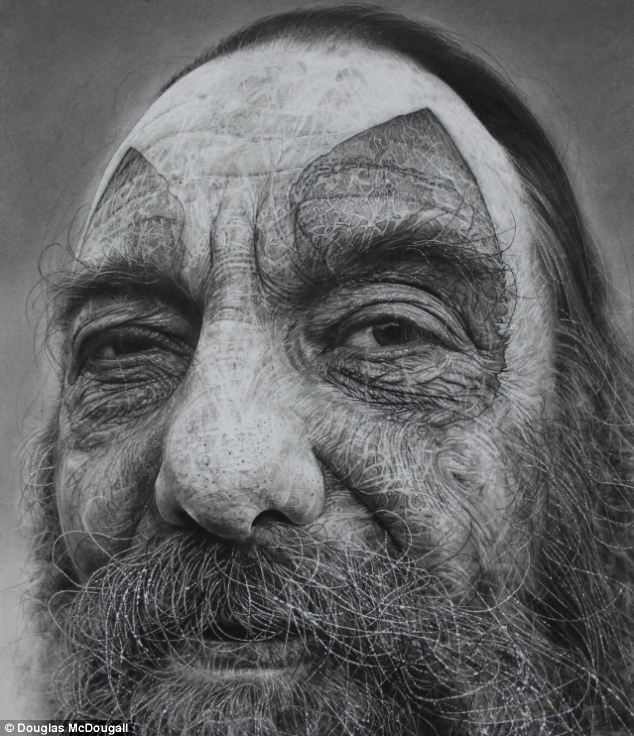 24 charcoal drawings