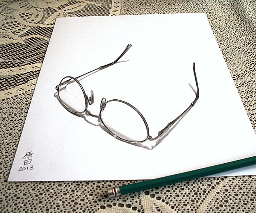24 glass 3d drawings