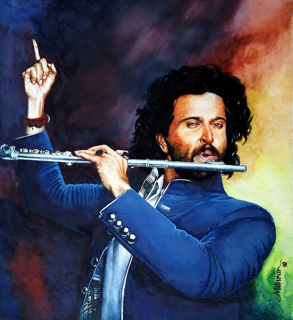24 hrithik rosan potrait paintings