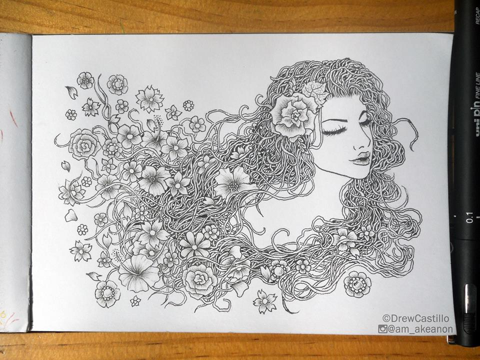 24 lady doodle art by andrew castillo