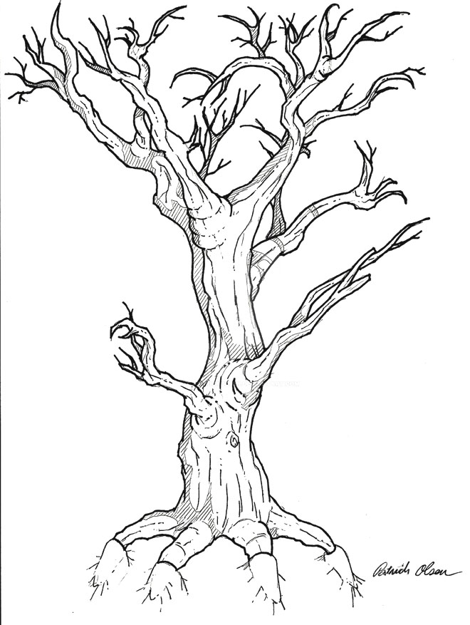 24 tree drawing tattoo