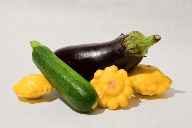 24 vegetables pastel painting