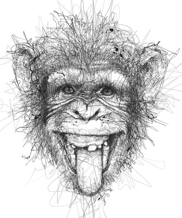 monkey scribbles -  25