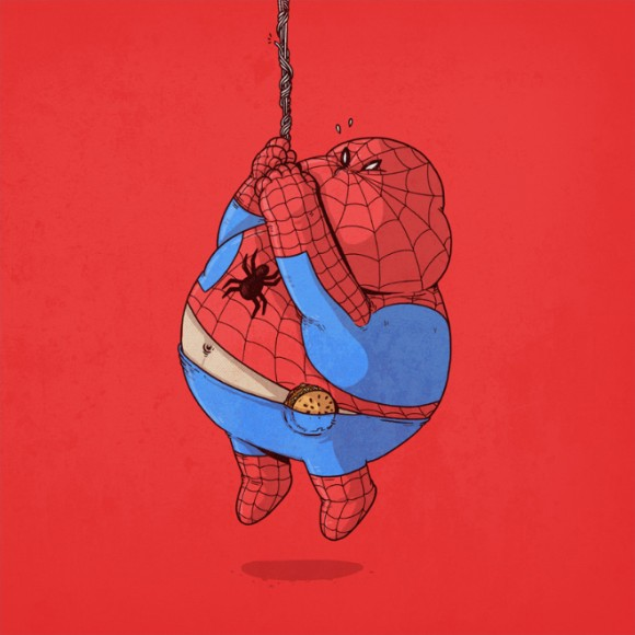 spiderman funny drawings -  25