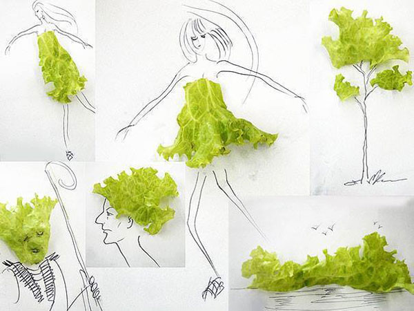26 vegetable funny drawings