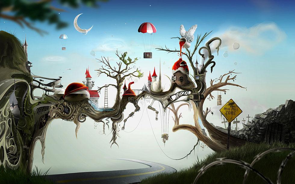 27 wonderland surreal painting