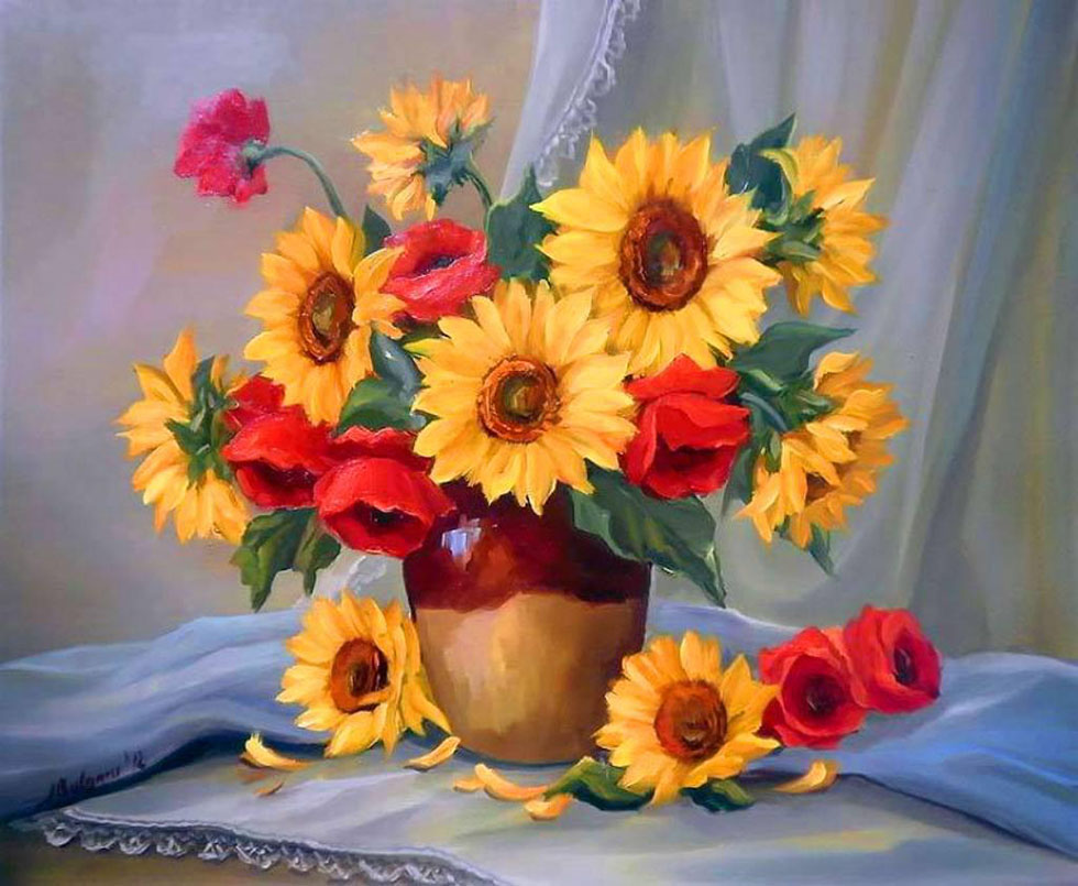 28 sunflower flower paintings
