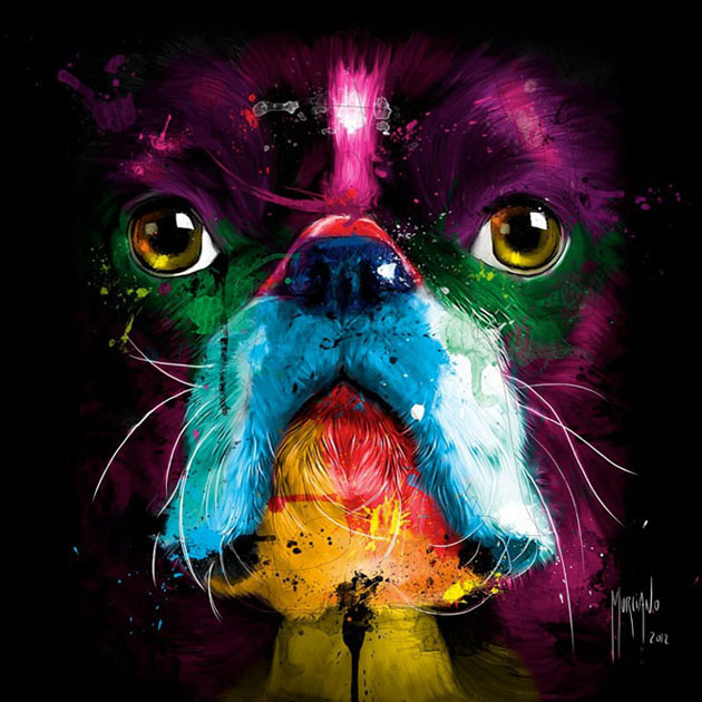 3 colourful painting by patrice murciano